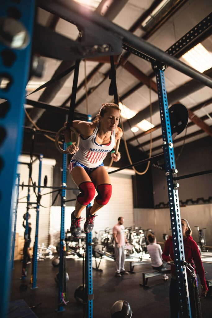 Crossfit Wando athlete ring muscle-up